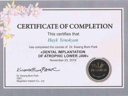 Certificate Mega Gen